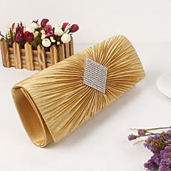 preiswerte Bags on sale-Damen Taschen Satin Metall Abendtasche Crystal / Strass für Hochzeit Veranstaltung / Fest Formal Büro & Karriere Ganzjährig Gold Schwarz