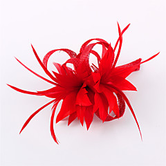 billige -hørfjær fascinators headpiece elegant klassisk feminin stil