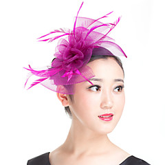 Feather Polyester Fascinators Headpiece Classical Feminine Style