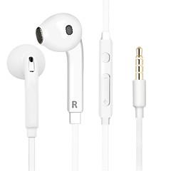 billiga Hörlurar med öronsnäckor-EARBUD Kabel Hörlurar Plast Mobiltelefon Hörlur Med volymkontroll / mikrofon / Ljudisolerande headset