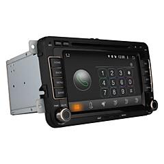 billiga DVD-spelare till bilen-7 tum 2 Din Android 4.4 In-Dash DVD-spelare Inbyggd Bluetooth / GPS / iPod för Volkswagen Stöd / RDS / 3D-gränssnitt / Rattstyrning