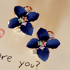 Women's Stud Earrings Drop Earrings Fashion Crystal Gold Plated Imitation Diamond Flower Jewelry For Party Daily Casual