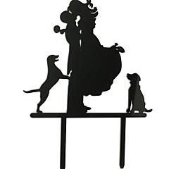 billige Kakedekorasjoner-Kakepynt Strand Tema Hage Tema Klassisk Tema Klassisk Par Akryl Bryllup jubileum Utdrikningslag med 1 OPP