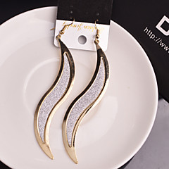 Ohrring Blattform Tropfen-Ohrringe Schmuck 2 Stück Hochzeit / Party / Alltag / Normal Aleación Damen Goldfarben / Silber