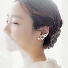 Damskie Ear Cuffs Syntetyczne kamienie szlachetne Perłowy Cyrkonia Stop Leaf Shape Biżuteria Na