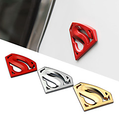 8x5.4cm grande 3m cromo auto logotipo do emblema de metal superman carro adesivo decalque do metal 3d