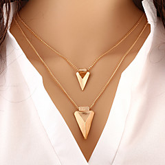 Women's Layered Necklaces Triangle Shape Alloy Basic Fashion Personalized European Costume Jewelry Jewelry For Special Occasion Birthday
