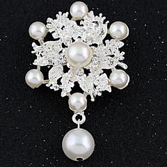 billige Motebrosjer-Dame - Fuskediamant damer, Luksus, Vintage, Mote Brosje Smykker Hvit Til Bryllup / Fest / Spesiell Leilighet / Maskerade / Forlovelsesfest / Skoleball