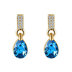 cheap Earrings-Drop Earrings Women's Alloy Earring Sapphire