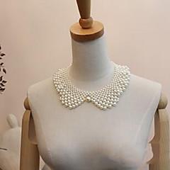お買い得  ファッションネックレス-女性用 真珠 人造真珠 銀メッキ カラー パールネックレス  -  ホワイト ネックレス 用途 結婚式 パーティー 日常