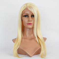 cheap Wigs & Hair Pieces-Human Hair Kosher Full Lace Lace Front Wig Brazilian Hair Straight Wig 130% Density with Baby Hair Natural Hairline African American Wig 100% Hand Tied Women's Short Medium Length Long Human Hair