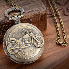 cheap Men's Watches-Men's Quartz Pocket Watch Casual Watch Metal Band Charm Bronze