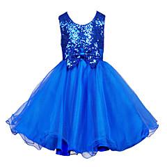 お買い得  女児 ドレス-幼児 女の子 ドレスウェア ジャカード ノースリーブ / Sサイズの袖長:61cm(1サイズアップごとに、袖長が21cm増加します.) ドレス
