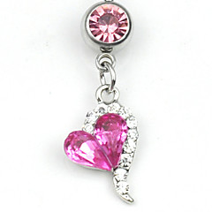 baratos Bijoux de Corps-Feminino Navel & Bell Button Rings Liga Rosa Jóias,1pc