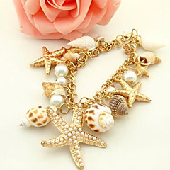 cheap -Korean Starfish And Conch Multielement Shell Bracelet