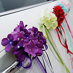 billige Bryllupsdekorasjoner-Unik bryllupsdekor Satin Bryllupsdekorasjoner Engasjement Strand Tema / Blomster Tema / Eventyr Tema Vår / Sommer / Høst