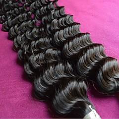 billige Remy fletninger af menneskehår-engros brazilian dyb bølge jomfru hår blandet 6bundles masse 8a grade naturlige farve uforarbejdede brazilian menneskehår