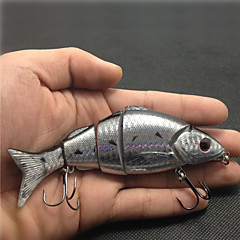 12cm/21g Quality 5 Jointed Sections Swimbait Minnow Floating Lure for Freshwater and Sea Fishing Lure Random Color