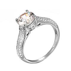 billige Motering-Dame Krystall Statement Ring - Fuskediamant Klassisk, Mote En størrelse Sølv / Gylden Til Bryllup Fest