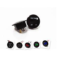lossmann motorcykel bil førte digitale voltmeter vandtæt design mode sort