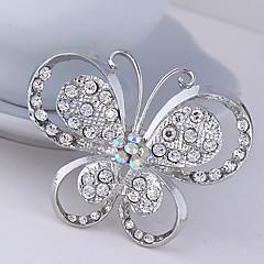 kvinners krystall sommerfugl dyr brosje for bryllupsfesten dekorasjon skjerf, fine smykker, tilfeldig farge