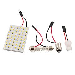 billiga LED-lampor för bil-3528 SMD LED panel 48 3528 varmvitt LED-ljus + t10 / Ba9s modul + dubbel spets (DC 12V)