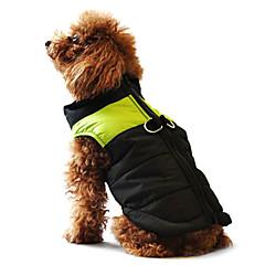 رخيصةأون لوازم حيوانات أليفة-كلب المعاطف سترة جاكيتات ريش ملابس الكلاب ألوان متناوبة أسود / زهري أسود / أخضر أسود وأزرق قطن كوستيوم من أجل ربيع & الصيف الشتاء رجالي نسائي كاجوال / يومي الدفء / دافئ