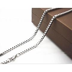 男性用 チェーンネックレス 幾何学形 チタン鋼 コスチュームジュエリー ジュエリー 用途 日常 カジュアル クリスマスギフト