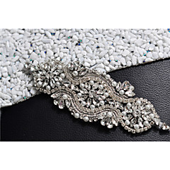 Satin Wedding Party/ Evening Dailywear Sash With Rhinestone Crystal Beading Pearls