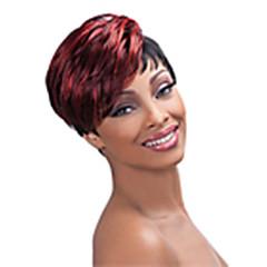baratos Perucas Sintéticas-hairjoy Perucas sintéticas Liso Cabelo Sintético 6 polegada Vermelho Peruca Mulheres Curto Sem Touca Vermelho