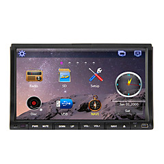 cheap Car DVD Players-7 inch 2 DIN Windows CE 6.0 / Windows CE In-Dash Car DVD Player Built-in Bluetooth / GPS / iPod for Support / RDS / Subwoofer Output