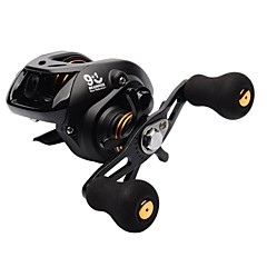 9+1 BB 6.3:1 Low Profile Baitcasting Reel Left Hand Bait Casting Fishing Reel Lightweight Water Drop Wheel