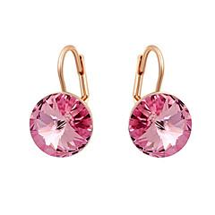 Χαμηλού Κόστους Κρεμαστά Σκουλαρίκια-Γυναικεία Κρυστάλλινο Κρεμαστά Σκουλαρίκια - Cubic Zirconia μινιμαλιστικό στυλ Πορτοκαλί / Ροζ Για
