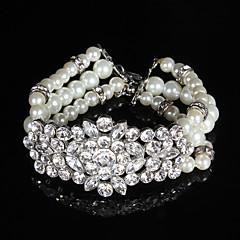 女性用 人造真珠 / ラインストーン ブレスレット チェーン 人造真珠