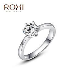 levne -Dámské Prsteny s kamenem láska Módní bižuterie Slitina Šperky Pro Svatební Párty Denní