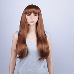 cheap Drag Wigs-Synthetic Lace Front Wig Straight With Bangs Women's Lace Front Synthetic Hair