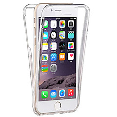 Pour iPhone 8 Plus iPhone 7 iPhone 7 Plus iPhone 6 iPhone 6 Plus Etuis coque Transparente Coque Intégrale Coque Couleur unie Flexible PUT
