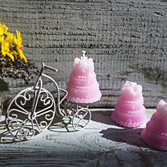 Beautiful Pink Wedding Cake Candle Favor Elegant Wedding Favors