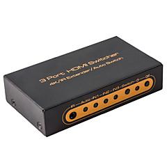 hdmi vaihtaja 2x1 3x1 4kx2k 60Hz ir jatkeeksi audiokytkimen metalli kauko 1080p 3d 4k hdmi2.0