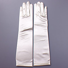 Satin Elbow Length Glove Bridal Gloves Party/ Evening Gloves With Appliques