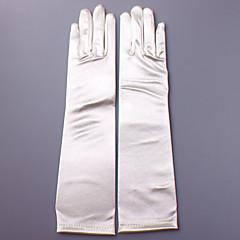 preiswerte Handschuhe für die Party-Satin Ellenbogen Länge Handschuh Brauthandschuhe Party / Abendhandschuhe With Applikationen