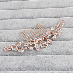 cheap Hair Jewelry-Rhinestone Hair Combs Headwear with Floral 1pc Wedding Special Occasion Casual Office & Career Outdoor Headpiece