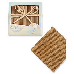 Beach Themed Bamboo Coasters (4pcs/box) Coaster Favors Wedding Party