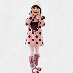 baratos Roupas de Meninas-Para Meninas Blusa Diário Poá Inverno Outono Raiom Manga Longa Pontos Desenho Laranja Verde Rosa claro