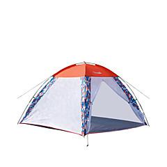 billige Telt og ly-Makino 3-4 personer Telt Tredobbelt camping Tent Ett Rom Velventilert Vindtett Anti-Insekt Pusteevne til Fisking Strand Innendørs Reise