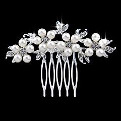 perłowy kryształ rhinestone stop grzebień do włosów elegancki styl
