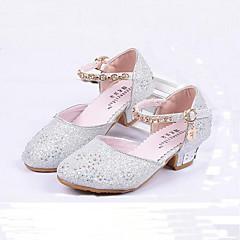 Para Meninas sapatos Gliter Primavera Verão Outono Conforto Saltos Cristais Laço Lantejoulas Pérolas Sintéticas Colchete Para Casamento