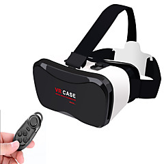 """VR CASE 5PLUS VR 3D Glasses +Smart Bluetooth Wireless Mouse/Remote Control Gamepad for 4 ~ 6.3"""" Mobile Phone"""