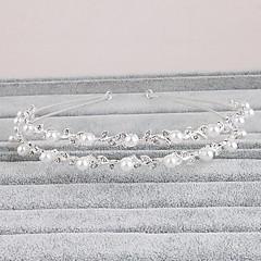 baratos Bijuteria para Cabelos-Strass Headbands 1 Casamento Ocasião Especial Casual Escritório e Carreira Ao ar livre Capacete