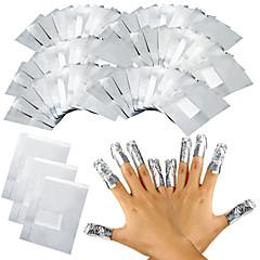 100szt / lot folii aluminiowej paznokci żel Soak Off akrylowe usuwania polski paznokci zawija narzędzie do usuwania makijażu